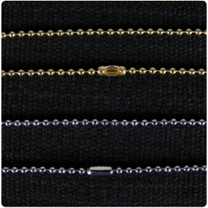 Gold and Rhodium Plated Ball Chain