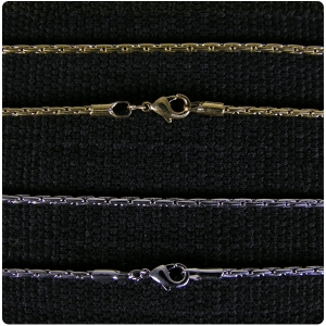 Gold and Rhodium Plated Peanut Link 20 inch Chain