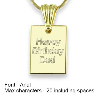 Engravable Back of Gold Plated Mini Rectangle Photo Pendant