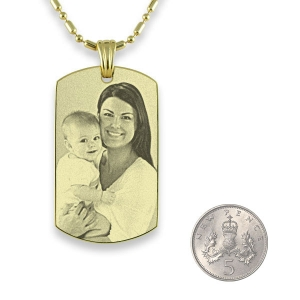 Gold Plated 925 Silver ID-Tag