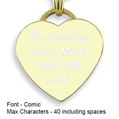 Engravable Back of Gold Plate Drop Heart Photo Pendant