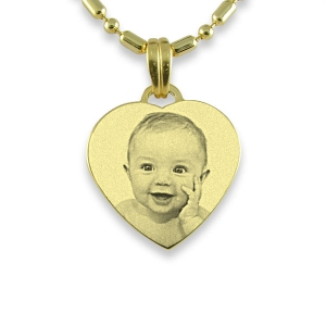 Gold Plated Small Heart Photo Pendant