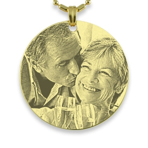 Gold Plated Medallion Photo Pendant