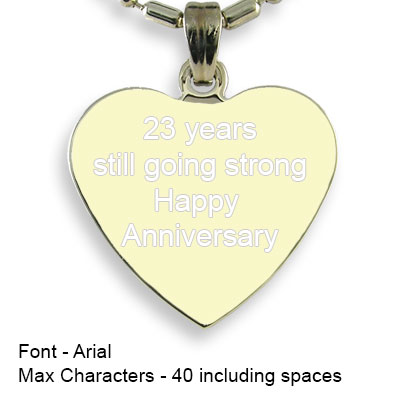 Engravable Back of Gold Plated Medium Heart Photo Pendant