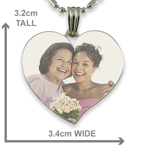 Heart shaped Colour Photo Pendant