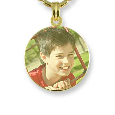 Gold Plated Small Colour Disc