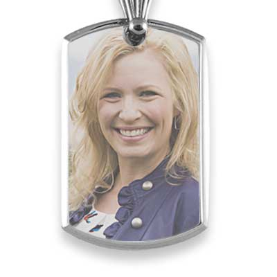 Bevelled printed colour portrait pendant