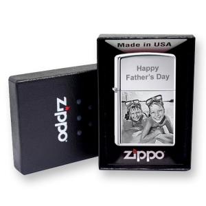 Chrome Photo Engraved Zippo Lighter