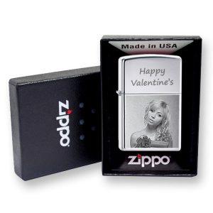 Chrome Photo Engraved Zippo Lighter