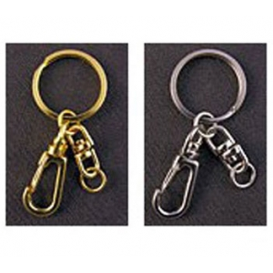 Keyring with Deluxe Carabiner Fastening