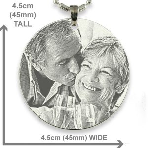 Dimensions of Rhodium Medallion Photo Pendant