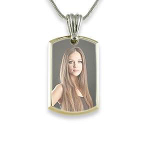 Small Deluxe Bevelled Colour Printed Dog Tag