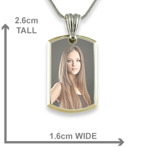 Dimensions Small Deluxe Bevelled Colour Printed Dog Tag