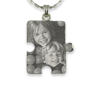 Silver 925 Large Jigsaw Piece