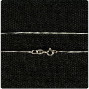 Silver 925 thin Curb chain 24 inch