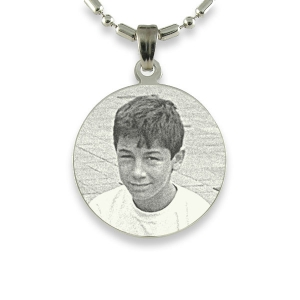 Silver 925 Medium Round Photo Pendant