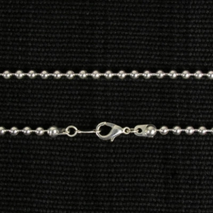 Silver Plate 24 inch Large Ball Chain