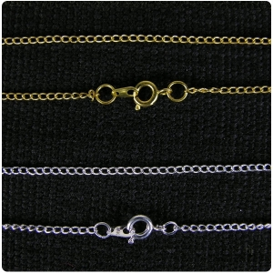Silver Plate and Gold Plate Curb Chain