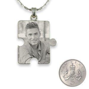 Silver 925 small Jigsaw Piece