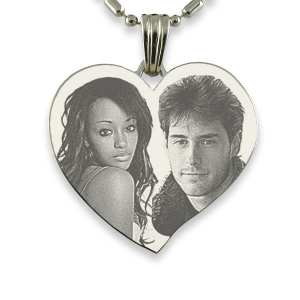 Stainless Steel Large Heart Photo Pendant