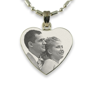 Stainless Steel Medium Heart Photo Pendant