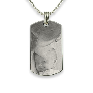 Face of Stainless Steel Small ID-Tag Photo Pendant