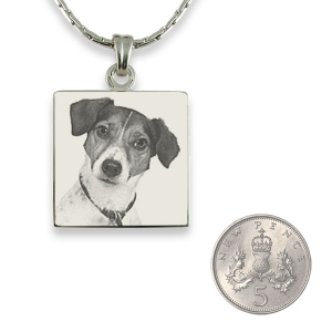 5p Scale Stainless steel Square Photo Pendant